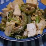 簡単節約ゴーヤチャンプルー〜お肉をいれなくても豆腐を入れるから問題なし!!!