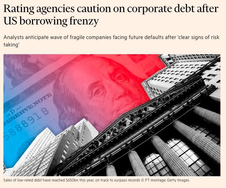 格付機関、米国借金狂乱後の社債に注意